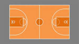 Outdoor Basketball Court Template by Basketball Court Plan Powerpoint Shapes Slidemodel
