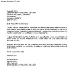template for appeal letter letter of appeal sle template best business template