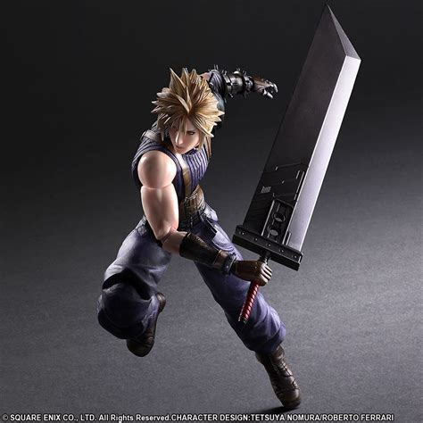 ff7 figure ffvii remake cloud strife special color version play arts