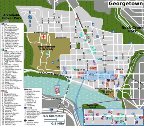washington dc universities map washington map georgetown