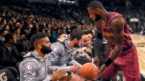 lebron james max bench lebron james taunts spurs bench fans nba live 18 the
