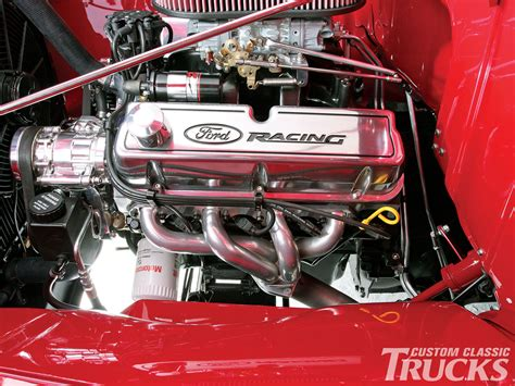 Ford Racing Engines by 1955 Ford F 100 Truck Rod Network