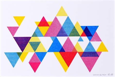 triangle pattern color hipster triangles process color triangle print 20