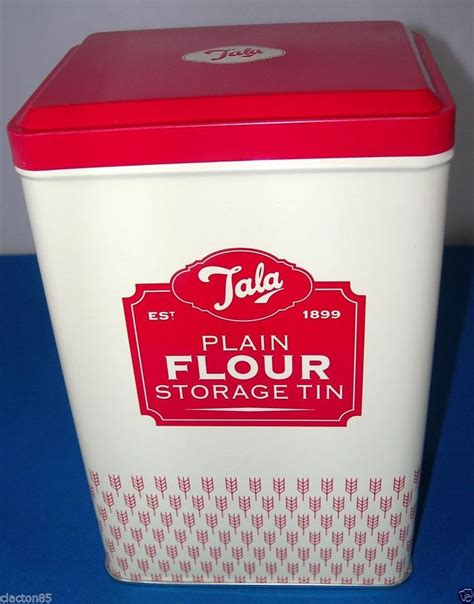 flour storage ideas tala retro old style vintage1950s plain flour container