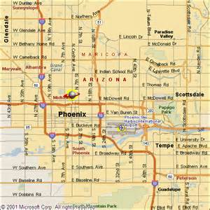 Phoenix Area Map by Phoenix Area Map Cities