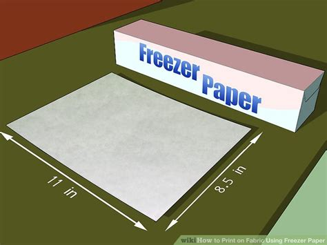 how to make printable fabric with freezer paper how to print on fabric using freezer paper 6 steps
