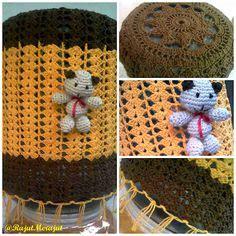 tutorial rajut tutup galon 1000 images about crochet bottle cover on pinterest
