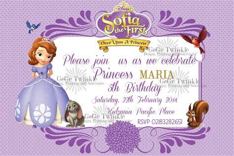 template undangan ulang tahun anak princess gege twinkle undangan sofia the first