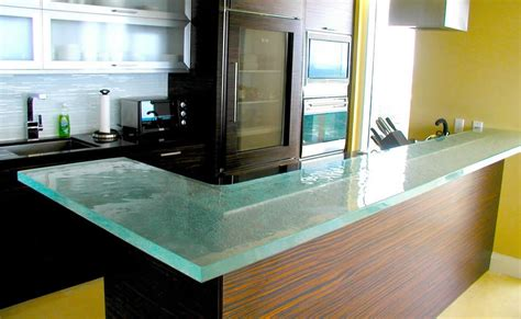 Kitchen Tempered Glass by Minimalist Kitchen With Tempered Glass Design Countertops