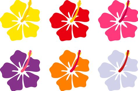 printable lei flowers coloring pages hawaiian flowers cartoon cliparts co