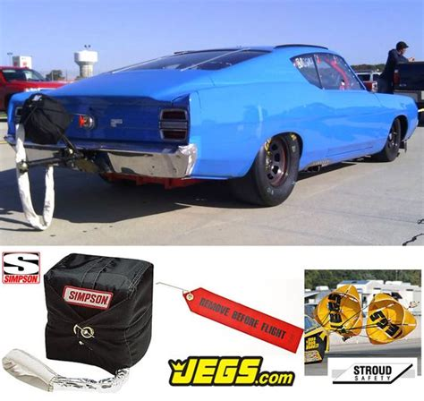 year and make of car drag cars parachutes and the photo on
