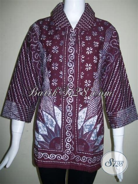Baju Batik Pejabat Wanita baju batik model trendy dan elegan busana batik tulis wanita pejabat bls837t xl toko batik