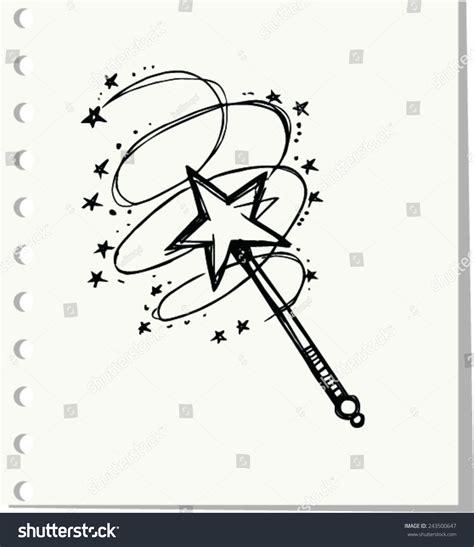 magic doodle doodle magic wand vector illustration stock vector