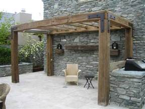 Pergola Post Supports by Recycled Rustic Timber And Iron Pergola Pergolas And
