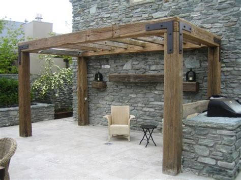Rustic Timber Pergola Love The Simple Look But With Less How Much Are Pergolas