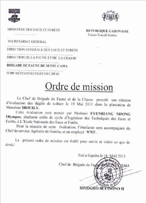 Exemple Lettre De Mission Visa Inde Modele Ordre De Mission Simple Document