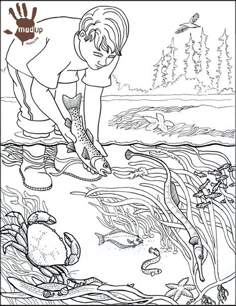 pencil drawing water pollution sketch coloring page
