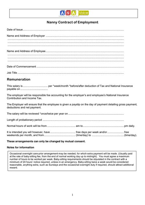 babysitting contract template 100 nanny contract template word template nanny