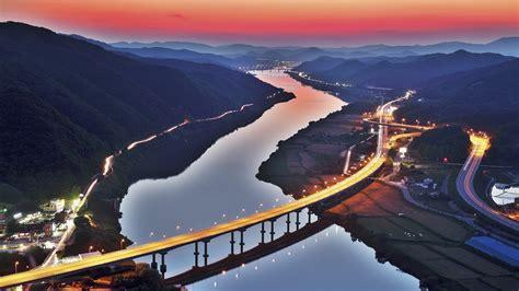 south korea river bridge hd nature  wallpapers images