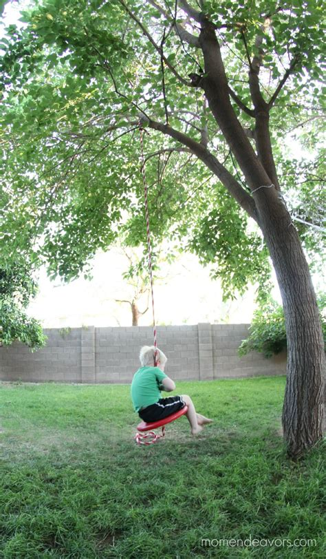 best rope for tree swing simple diy tree swing