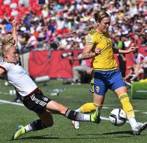 deutschland gegen schweden fu 223 frauen freizeit dfb frauen souver 228 n im wm