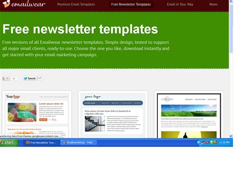 Email Advertising Templates by Best Newsletter And Email Marketing Templates Websitesfree