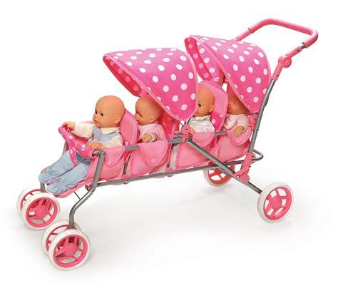 4 seat doll stroller badger doll stroller pink polka dots fits american