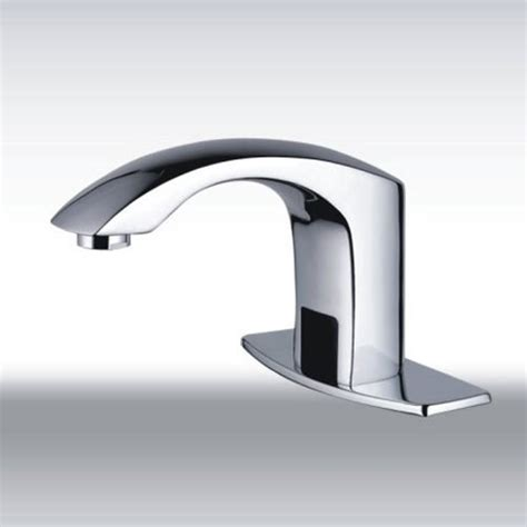 Touch Less Faucet by Cold Water Automatic Touchless Chrome Sensor Sink Faucet