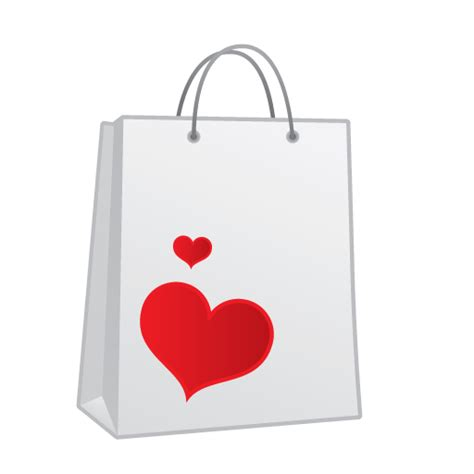 image gallery i love shopping icons shopping bag heart icon love and breakup iconset kevin
