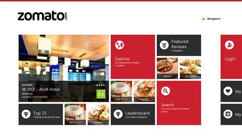 blogger zomato archita s blog review zomato app for windows 8