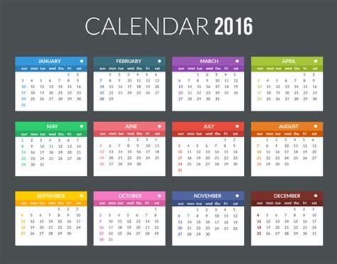 creative calendar 2016 template vector 07 vector