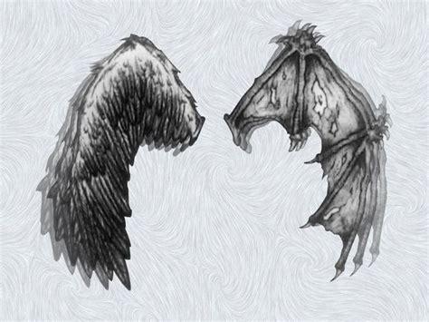 angel and devil wings tattoo designs half half tattoos wings by