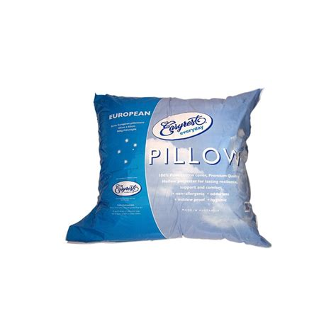 What Size Is A European Pillow by Easyrest Everyday European Size Pillow