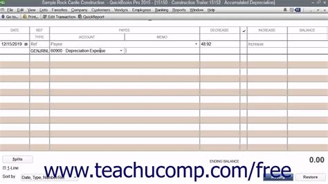 Depreciation Report In Quickbooks by Quickbooks Pro 2015 Tutorial Tracking Depreciation Intuit