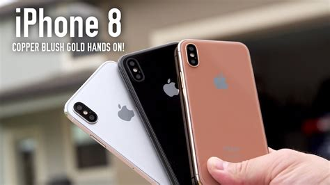 apple iphone x blush gold model on all colors