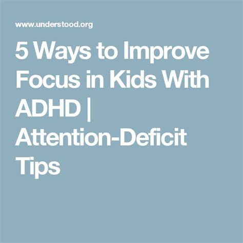 7 Ways To Improve Your Concentration by 43 Best Images About Adhd On Children Toys