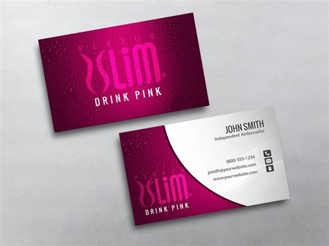 Plexus Slim Business Card Template by Plexus Business Cards Free Shipping