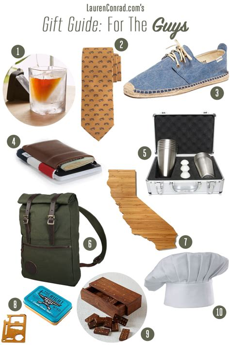 gift guide for the guys lauren conrad