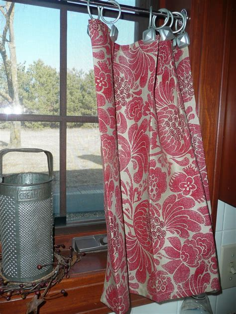 kitchen curtains made from napkins from target the