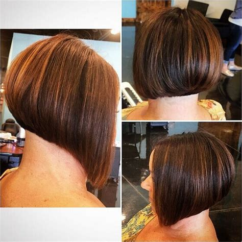 black bob stack hairstyle back of stacked bob haircuts impression hair style