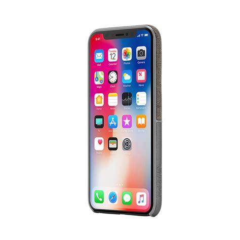 carcasa iphone xxs incase textured snap gris