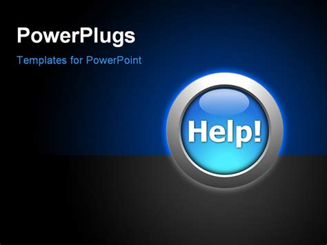 powerpoint layout button powerpoint template the help button with a bluish