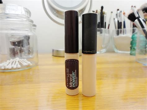 Maybelline Mineral Power Concealer splurge or save mac select moisture cover concealer vs