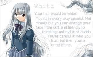 anime hair color meaning white silver hair anime photo 17429070 fanpop