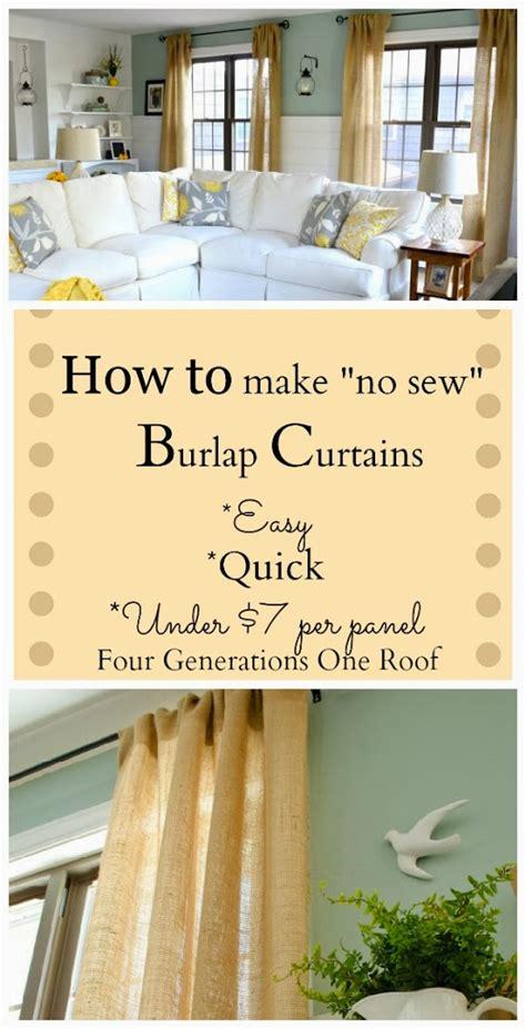 no sew burlap curtains quot easy quot and quot no sew quot gold polka dot burlap curtains fry
