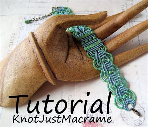 Micro Macrame Tutorial Leaves Bracelet Pattern Beaded