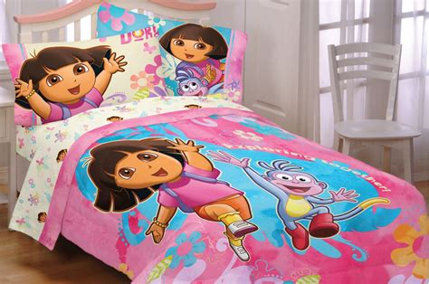 dora comforter set toddler sheet sets dora room ornament