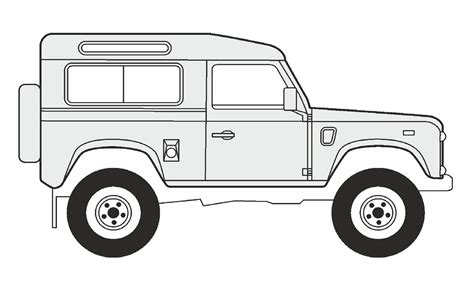 land rover drawing how to draw a land rover defender 90 как нарисовать land