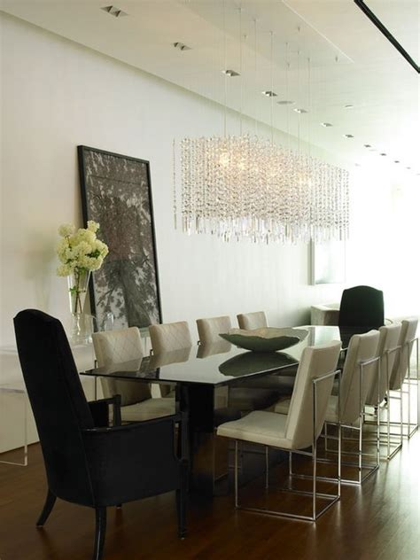 rectangle chandelier   statement   dining room