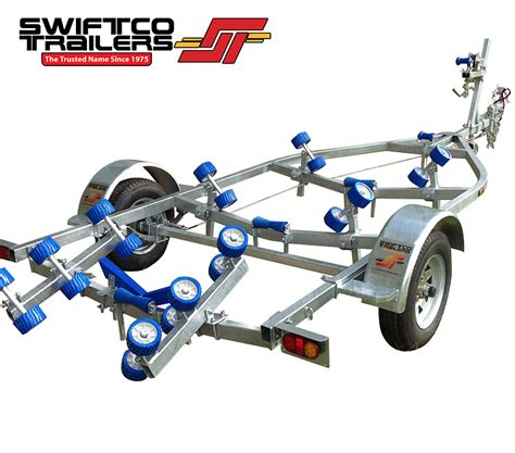 boat trailer quad rollers swiftco 5 metre boat tralier roller type